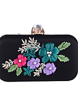 cheap -Women's Bags Polyester Evening Bag Pearls / Flower Red / Blushing Pink / Almond
