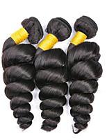 billiga -3 paket Mongoliskt hår Löst vågigt Obehandlat / Äkta hår Presenter / cosplay Suits / Human Hår vävar 8-28 tum Naurlig färg Hårförlängning av äkta hår Enkel / Mjuk / Tjock Människohår förlängningar Dam