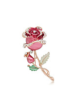 cheap -Women's Stylish Brooches - Flower Sweet, Fashion Brooch Red For Date / Office & Career
