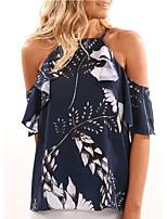 cheap -women's shirt - geometric halter neck