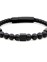 cheap -Men's Beads Strand Bracelet / Bracelet - Stainless Fashion Bracelet Gray / Brown / Blue For Party / Ceremony
