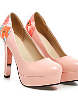 Недорогие -Жен. Обувь Полиуретан Весна / Осень Удобная обувь / Туфли лодочки Обувь на каблуках На шпильке Черный / Бежевый / Розовый