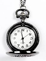 baratos -Homens Relógio de Bolso Gravação Oca Aço Inoxidável Banda Fashion Bronze