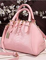 cheap -Women's Bags Cowhide Tote Rivet / Zipper Red / Blushing Pink / Beige