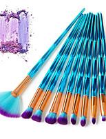 preiswerte -10-Pack Makeup Bürsten Professional Bürsten-Satz- Faser Professionell / vollständige Bedeckung Plastik