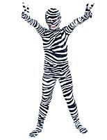 abordables -Costumes zentai à motifs / Costume de Cosplay Costume Zentai Costumes de Cosplay Noir Motif Fourrure d'Animaux / Zébré Boas et Plumes / Elastique Unisexe Halloween / Carnaval / Le Jour des enfants
