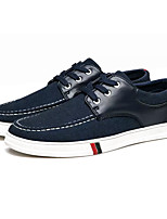 cheap -Men's Canvas Spring Comfort Sneakers Black / Dark Blue