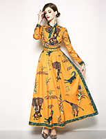 cheap -SHIHUATANG Women's Boho / Street chic Swing Dress - Floral Print