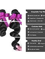 Недорогие -Перуанские волосы Волнистый Человека ткет Волосы / Удлинитель / Пучок волос 6 Связок 8-28 дюймовый Ткет человеческих волос Машинное плетение Классический / Лучшее качество / Безопасность