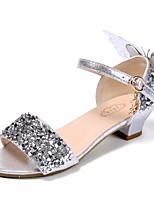 Недорогие -Девочки Обувь Полиуретан Лето Детская праздничная обувь / Крошечные Каблуки для подростков Сандалии для Серебряный