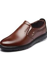 Недорогие -Муж. Полиуретан Осень Удобная обувь Мокасины и Свитер Черный / Желтый / Коричневый
