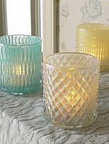cheap -Modern / Contemporary / Simple Style Glass Candle Holders Candelabra 1pc, Candle / Candle Holder