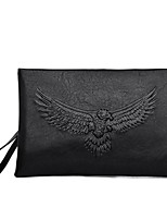 cheap -Men's Bags PU(Polyurethane) Clutch Embossed Black