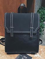 Недорогие -Жен. Мешки PU рюкзак Однотонные Коричневый / Черный / Кофейный