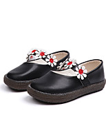 cheap -Girls' Shoes PU(Polyurethane) Spring / Fall Flower Girl Shoes Flats Walking Shoes Hook & Loop for Kids Black / Beige / Pink