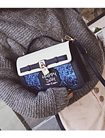 cheap -Women's Bags PU(Polyurethane) Shoulder Bag Solid Blue / Blushing Pink