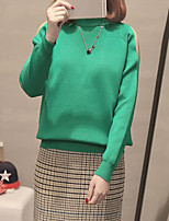 cheap -Women's Street chic / Sophisticated Pullover - Solid Colored