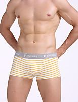 cheap -Men's Boxers Underwear Check Mid Waist