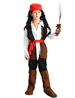 cheap -Pirate Outfits Boys' Halloween / Carnival / Children's Day Festival / Holiday Halloween Costumes Brown Solid Colored / Halloween Halloween