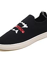 baratos -Homens sapatos Tricô / Tecido elástico Outono Conforto Mocassins e Slip-Ons Preto / Cinzento