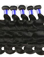 Недорогие -6 Связок Перуанские волосы Волнистый Натуральные волосы Человека ткет Волосы / One Pack Solution / Накладки из натуральных волос 8-28 дюймовый Ткет человеческих волос