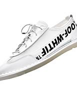 Недорогие -Муж. Полиуретан Осень Удобная обувь Кеды Красный / Черно-белый