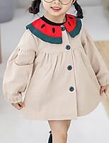 Недорогие -малыш Девочки Контрастных цветов Длинный рукав Платье