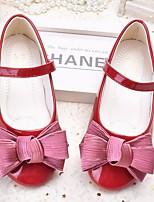 Недорогие -Девочки Обувь Искусственная кожа Весна & осень Удобная обувь / Детская праздничная обувь На плокой подошве для Черный / Розовый / Вино