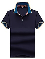 cheap -Men's Basic Polo - Solid Colored / Color Block