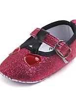 Недорогие -Девочки Обувь Полиуретан Лето Обувь для малышей На плокой подошве На липучках для Дети Серебряный / Красный / Розовый