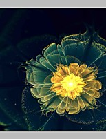abordables -Imprimé Impression sur Toile - Fantaisie / A fleurs / Botanique Moderne