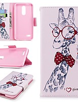 cheap -Case For LG K10 2018 Wallet / Card Holder / with Stand Full Body Cases Animal Hard PU Leather for LG K10 2018