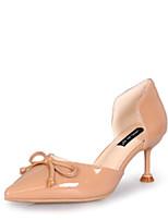 preiswerte -Damen Schuhe PU Sommer D'Orsay und Zweiteiler High Heels Kitten Heel-Absatz Spitze Zehe Schleife Beige / Mandelfarben
