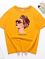 abordables -Tee-shirt Femme, Géométrique Sortie