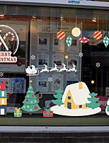 abordables -Film de fenêtre et autocollants Décoration Noël Classique PVC Autocollant de Fenêtre
