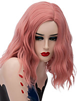 cheap -Wig Accessories / Synthetic Wig Wavy Middle Part Synthetic Hair Fashionable Design / Party Red / Black Wig Women's Short Capless White