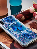 cheap -Case For Apple iPhone X / iPhone 8 Plus Shockproof / Flowing Liquid / Transparent Back Cover Butterfly Soft TPU for iPhone X / iPhone 8 Plus / iPhone 8