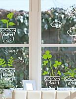 abordables -Film de fenêtre et autocollants Décoration Fleur Fleur PVC Autocollant de Fenêtre