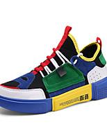 Недорогие -Муж. Полиуретан Лето Удобная обувь Кеды Беговая обувь / Для прогулок Контрастных цветов Черный / Серый / Зеленый