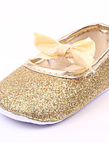 cheap -Girls' Shoes Synthetics Summer First Walkers Flats Bowknot / Gore for Baby Gold / Silver / Pink