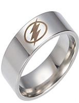 cheap -Men's Stylish Ring - Stainless Steel Tattoo Style, Anime, Sweet Lolita 7 / 8 / 9 Silver For New Year / Bar