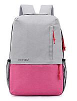Недорогие -Жен. Мешки холст рюкзак Молнии Серый / Пурпурный / Небесно-голубой