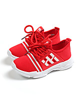 cheap -Girls' Shoes Mesh Spring & Summer Comfort Sneakers Walking Shoes Lace-up for Kids Black / Red / Pink