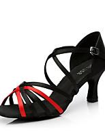 cheap -Women's Latin Shoes Satin Heel Slim High Heel Dance Shoes Purple / Black / Red