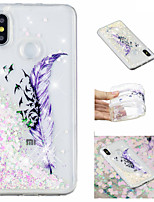 cheap -Case For Xiaomi Redmi Note 5 Pro / Mi 8 Flowing Liquid / Pattern / Glitter Shine Back Cover Feathers / Glitter Shine Soft TPU for Xiaomi Redmi Note 5 Pro / Xiaomi Redmi Note 4X / Xiaomi Redmi Note 4