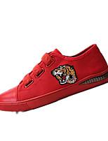 cheap -Men's Canvas / PU(Polyurethane) Summer Comfort Sneakers Black / Red