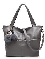 cheap -Women's Bags PU(Polyurethane) Shoulder Bag Zipper / Pom-pom Green / Red / Light Grey