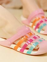 Недорогие -Жен. Обувь Этиленвинилацетат Весна лето Удобная обувь Тапочки и Шлепанцы На плоской подошве Пурпурный / Розовый / Тёмно-синий