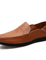 cheap -Men's Cowhide Spring & Summer Casual Loafers & Slip-Ons Color Block Black / Brown / Blue