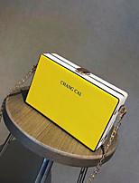 cheap -Women's Bags PU(Polyurethane) Shoulder Bag Zipper / Solid White / Blushing Pink / Yellow